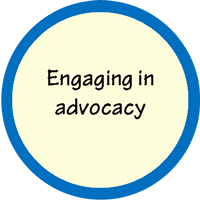 Engaging in advocacy