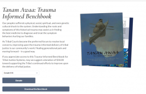 Tanam Awaa: Trauma Informed Benchbook